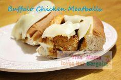 Buffalo Chicken Meatballs #recipe