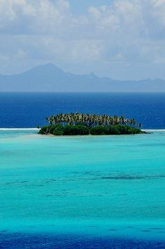 turquoise waters of raiatea, french polynesia.