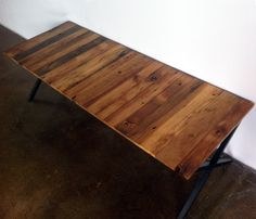 Coffee Table made with repurposed wood- or maybe a bench for the hallway nook