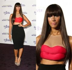 """Read my lips. No, my other lips.""  SurferWife's Fashion Disasters  Leona Lewis"