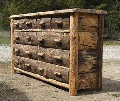 How To Build Rustic Furniture - InfoBarrel decor, log furniture, idea, log dresser, dream, rustic wood furniture, dressers, hous, rustic furnitur