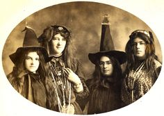 Circa 1900 family sisters postcard