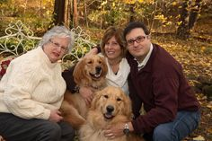"This is New York State Senator Toby Ann Stavisky with her son and daughter-in-law Evan and Kristen Stavisky and her Golden Retriever ""granddogs"" Jack and Grady.  Senator Stavisky represents the 16th District, which includes Queens County.   She has served as an Honorary Chair every year since Meet the Breeds began in 2009."