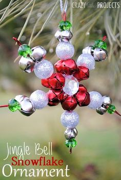 Jingle Bell Snowflake Ornament by Crazy Little Projects