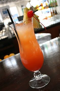 Sex on the Beach -- my fav cocktail                                               2/3 oz. Schnapps, peach  1 1/3 oz. Vodka  1 1/3 oz. Cranberry Juice  1 1/3 oz. Orange Juice