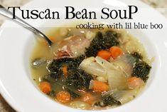 tuscan bean, food, favorit recip, bean recipes, easi recip, easi soup, soup recipes, vegetarian soups, bean soup