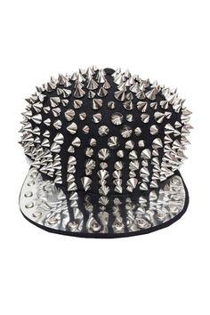 Silver-tone Spike Cap OASAP.com