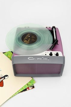 Crosley Collegiate Turntable: Retro-fab and portable! #urbanoutfitters