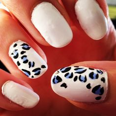 summer leopard nails