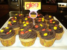 Glee-ces PB cupcakes I made for my teen girl's Glee birthday party