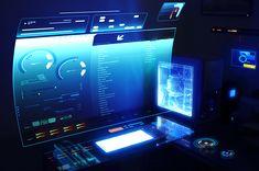 Futuristic computer desktop