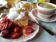 Strawberry Shortcake at Dan'l Boone Inn Restaurant in Boone, NC