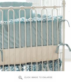 New Arrivals Velvet Baby in Aqua Crib Bumper