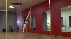 Carlie Hunter 2 ways into the sneaky V. #poledance #poletricks #poledancetutorial