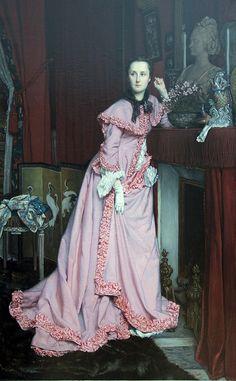 James Tissot, Portrait - Marquise de Miramon, 1866. #classic #art #painting