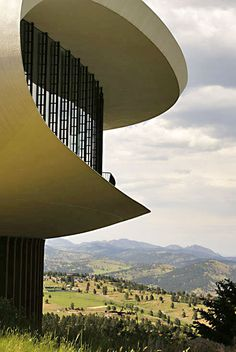 "The famous ""Sculptured House"" designed and built in 1963 by architect Charles Deaton hovers on top of Genesee Mountain in Colorado."