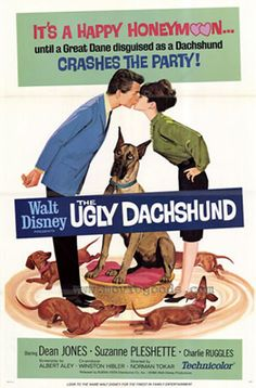 I want to watch this movie right now. Seriously, if you haven't seen this, it's one of my favorites. The dachshunds wear HATS, people. And they're naughty and blame it on the Great Dane. Best ever.