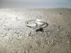 Sterling Raw Uncut Diamond Ring, $105