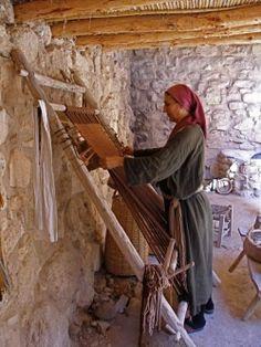 warp-weighted loom ...  http://www.flickr.com/photos/vikingman/3532257738/in/gallery-27673602@N06-72157627048418761/