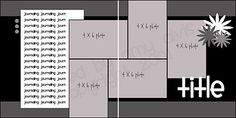 2 page layout, 5 photo, Photos: 3 vertical 2 horizontal