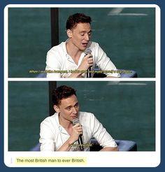 The most British man to ever British: Tom Hiddleston