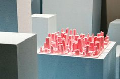 Inception, a silicone three-dimensional cityscape that holds your dishes as they dry, by Luca Nichetto