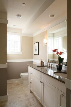 white cabinets, dark