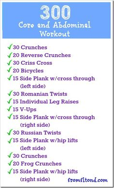 300 Core and Abdominal Workout