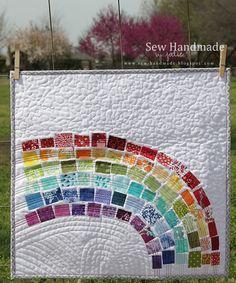 scrappi rainbow, rainbow quilt, qualiti quilt, modern rainbow, quilti quirk