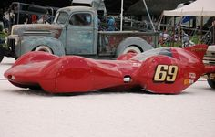 Redhead Bonneville land speed car via classictrackracing.com