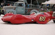 Redhead Bonneville land speed car via classictrackracing.com