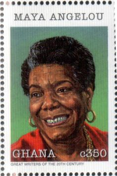 aadatart:  In 1997, Maya Angelou and 11 other Black authors were honored on stamps from Uganda and Ghana to promote World Literacy.   The stamps were designed by Gary Aagaard of Seattle.  — Twitter | Instagram | Facebook | Google+ | YouTube maya angelou, peopl, literari stamp, postag stamp, stamp japo, postal stamp, 1928, collect stamp, angelou maya