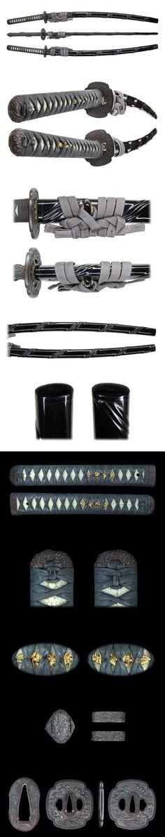 Japanese sword, Katana, in details