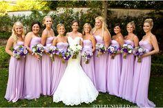 Beautiful lilac bridesmaid dresses
