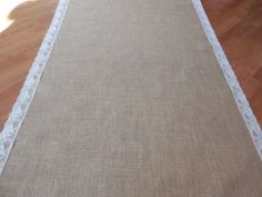 Burlap and lace aisle runner rustic wedding aisle runner 20 ft