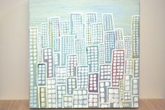 Small City in the Caribbean original abstract by RootsMarket,