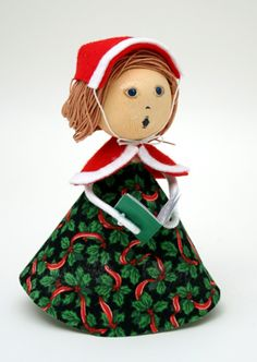 Christmas Caroler Woman Clothespin Doll Craft Kit