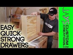 How to Construct Strong Drawers Quick and Easy using your Kreg Jig