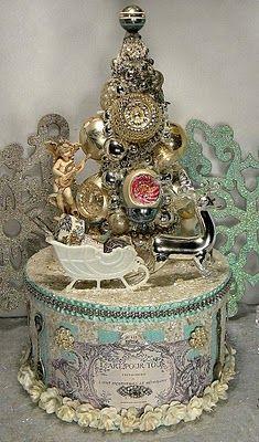 *The Graphics Fairy LLC*: Brag Monday - French Christmas Box & Christmas Time Ornament