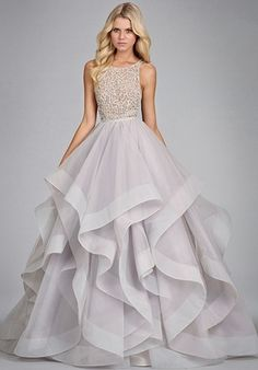 Jaw dropping tulle bridal gown with halter high neck alabaster and crystal bodice   6413 - Dori from Hayley Paige