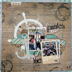 A Pirates Life for Me Scrapbook Page by Tracee Provis using BoBunny Wild Card Collection for the October 2014 Sketch Challenge. #BoBunny @fluffyasever