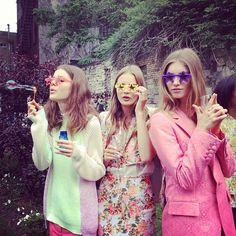 Stars in their eyes. Models at the Stella McCartney #resort13 presentation