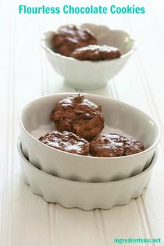 Flourless Chocolate Cookies!  if these are anything like flourless chocolate cake, I am in!
