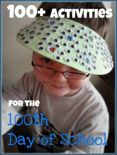 Do your kids celebrate the 100th day of school?  Do their teachers do anything fun that day in school?  Or do you do anything fun in your homeschool?  Find resources for 100+ 100th Day of School Activities at B-InspiredMama.com.