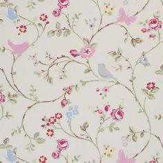 Bird Trail Print Fabric | Dunelm Mill