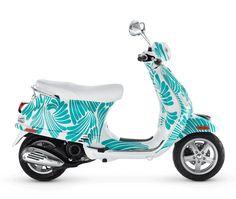 Teal Vespa - Looks like summer!!  #ridecolorfully#katespadeny#vespa