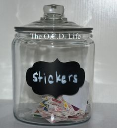 The O.C.D. Life - Simple Sticker Storage