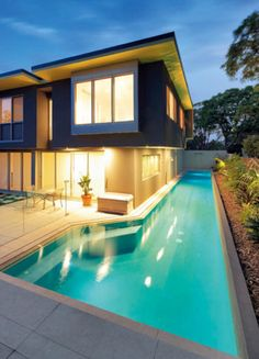 Lap pool on the side of your house? Yes please!