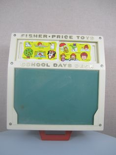 ooh, I had this! it held those magnetic letters and numbers inside.