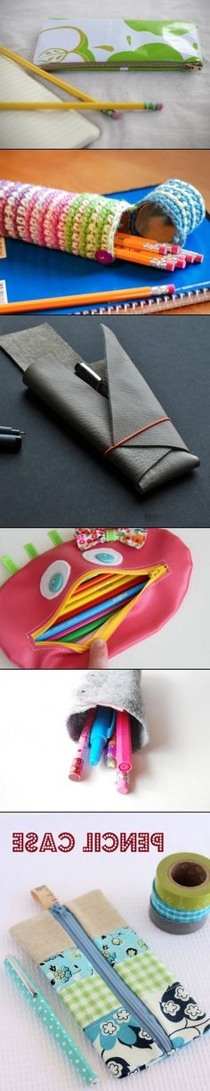 DIY Pencil Cases and Pencil Holders
